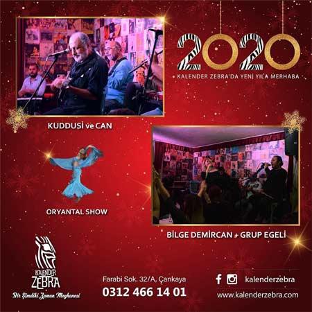 Kalender Zebra Yılbaşı Programı 2020