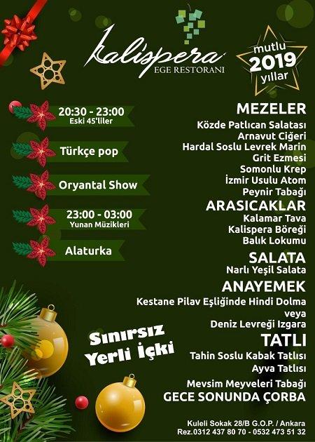Kalispera Restaurant Yılbaşı 2019