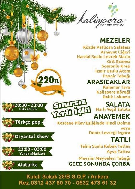Kalispera Ankara Yılbaşı 2018