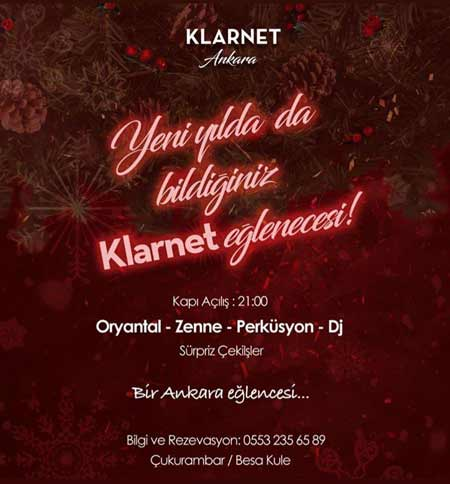 Klarnet Sahne Ankara Yılbaşı 2020