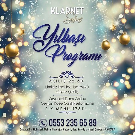 Klarnet Sahne Ankara Yılbaşı Programı 2019