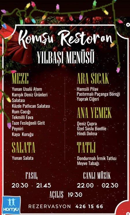 Komşu Restaurant Ankara Yılbaşı 2020