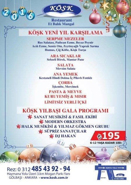 Köşk Restaurant Yılbaşı 2016