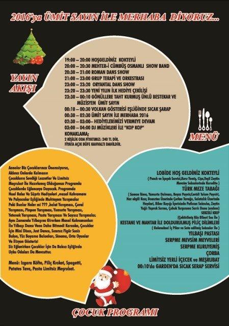 Latanya Otel yılbaşı program
