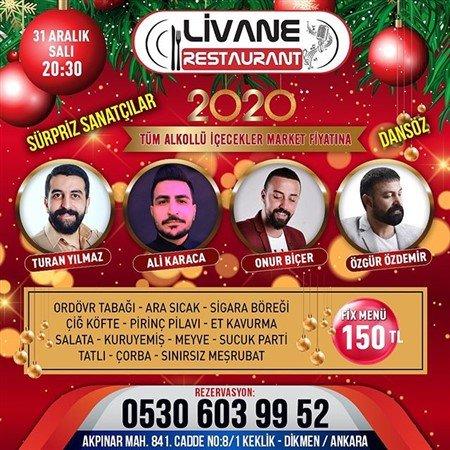 Livane Restaurant Ankara Yılbaşı 2020