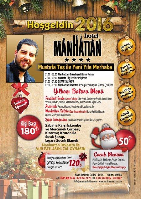 Manhattan Hotel Yılbaşı 2016