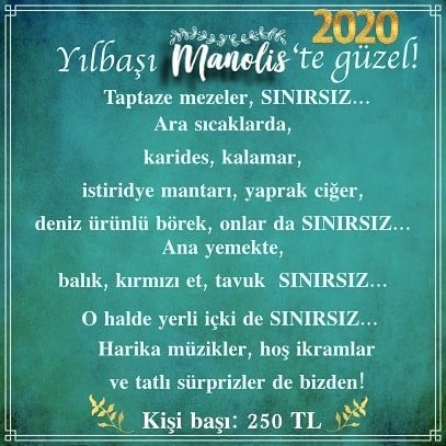 Manolis Ankara Yılbaşı 2020
