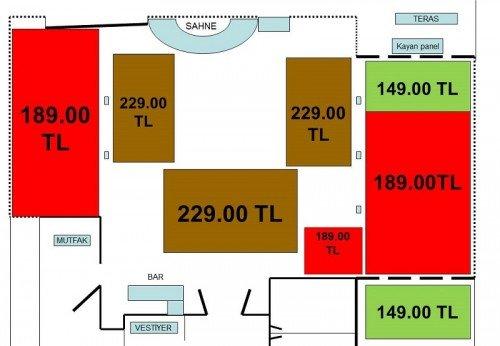 Midas Otel 2017 Yılbaşı Masa Düzeni