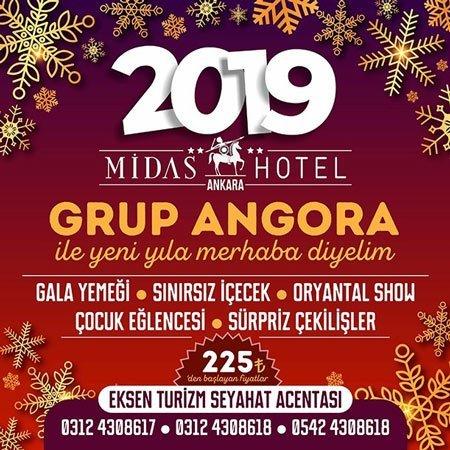 Midas Hotel Yılbaşı Programı 2019