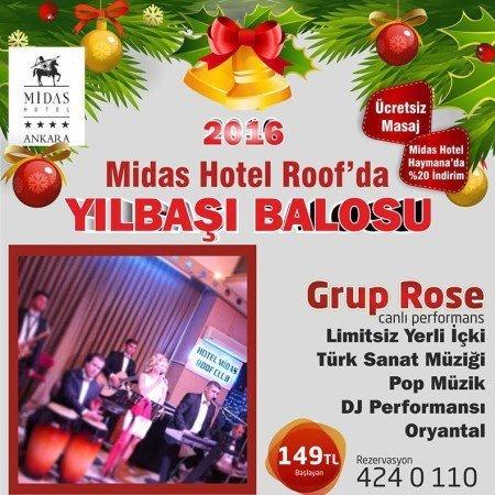 Midas Hotel Yılbaşı Programı 2016