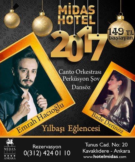 Midas Hotel Yılbaşı Programı 2017