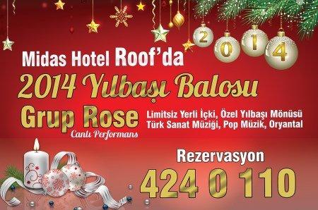 Midas Otel 2014 Yılbaşı Programı