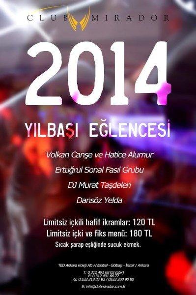 Club Mirador 2014 Yılbaşı Programı
