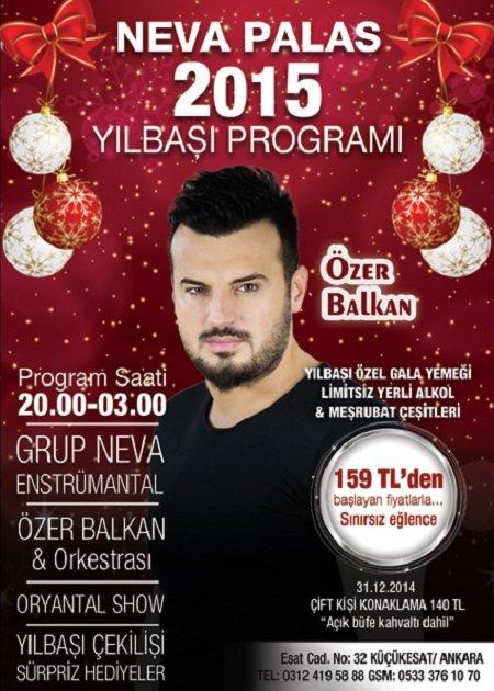 Neva Palas Otel 2015 Yılbaşı Programı