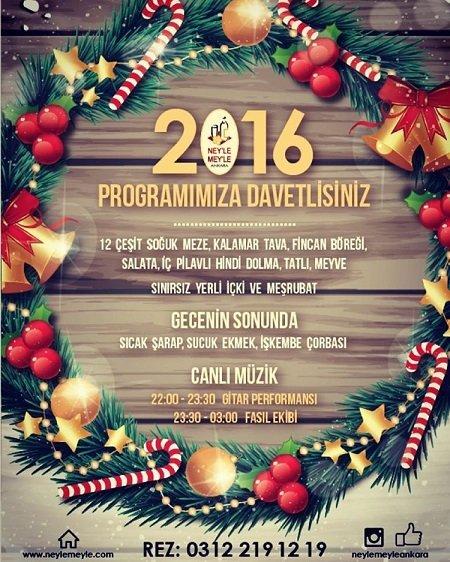 Neyle Meyle Ankara Yılbaşı 2016