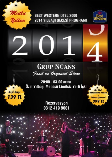 Best Western Otel 2000 Ankara 2014 Yılbaşı Programı