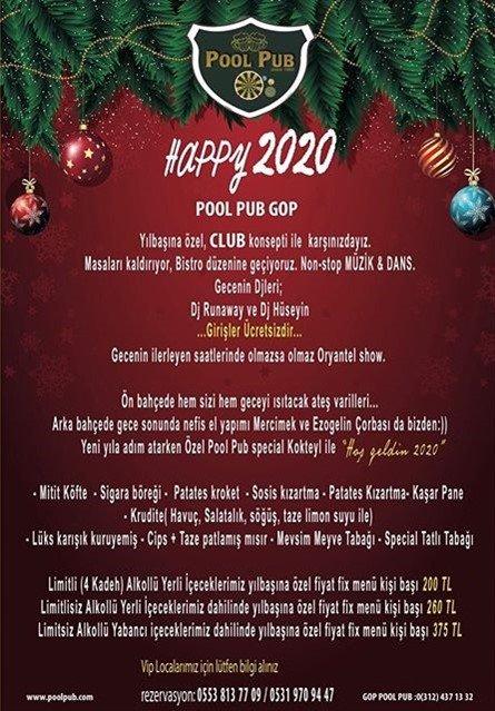 Pool Pub GOP Yılbaşı 2020