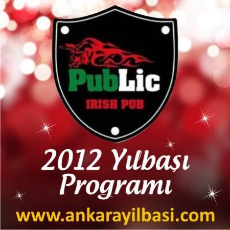 Public Irish Pub 2012 Yılbaşı Programı