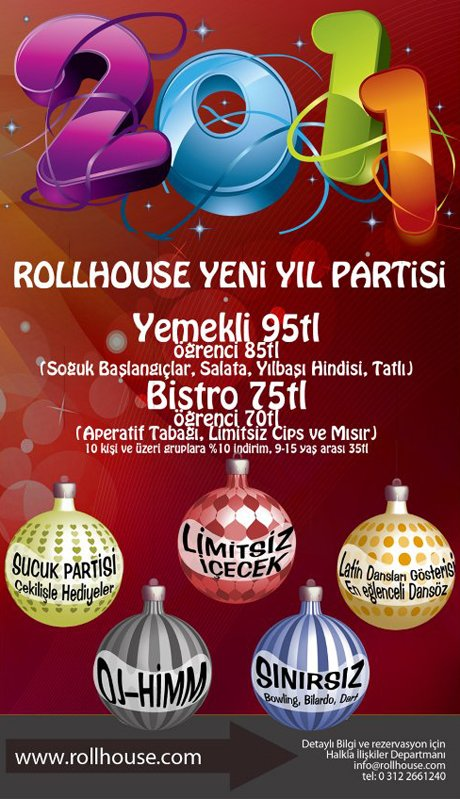 Roll House 2011 Yılbaşı Programı