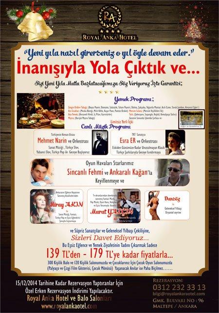 Royal Anka Otel 2015 Yılbaşı Programı