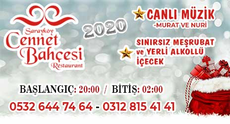 Sarayköy Cennet Bahçesi Restaurant Ankara Yılbaşı 2020