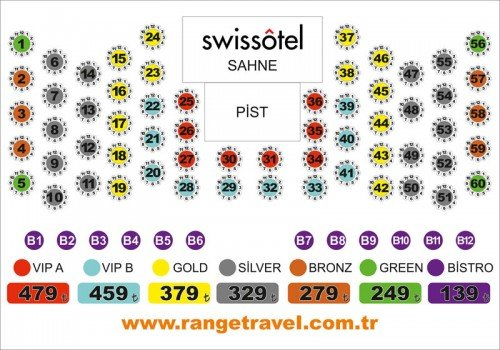Swiss otel yılbaşı masa düzeni