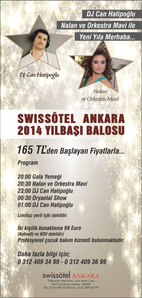 Swiss Otel Ankara 2014 Yılbaşı Programı