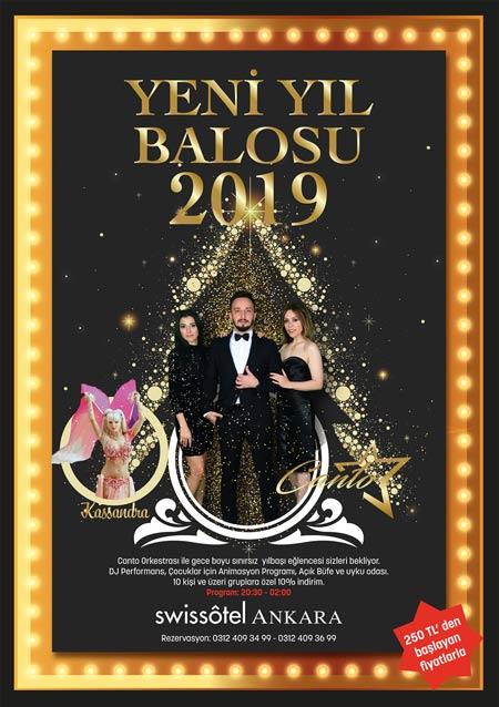 Swissotel Ankara Yılbaşı Programı 2019