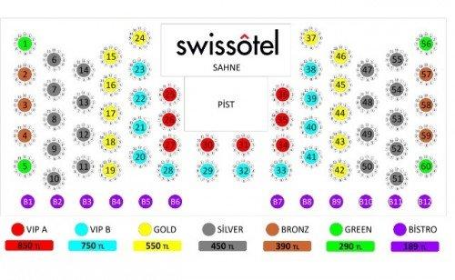 Swissotel Yılbaşı Masa Düzeni