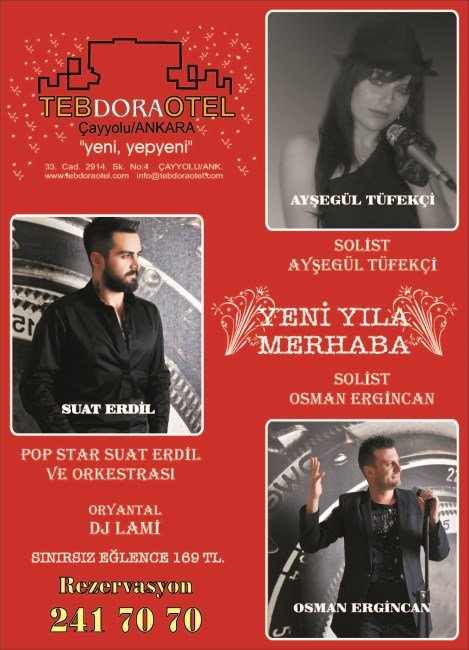 Teb Dora Otel 2014 Yılbaşı Programı
