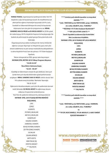The Rasa Brasserie Ankara Yılbaşı 2019
