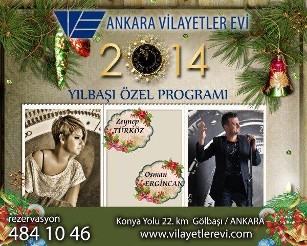 Gölbaşı Vilayetler Evi 2014 Yılbaşı Programı