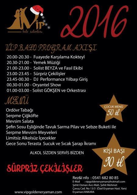 Eryaman VIP Golden Yılbaşı 2016