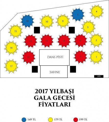 Vivaldi Ankara Yılbaşı Masa Düzeni
