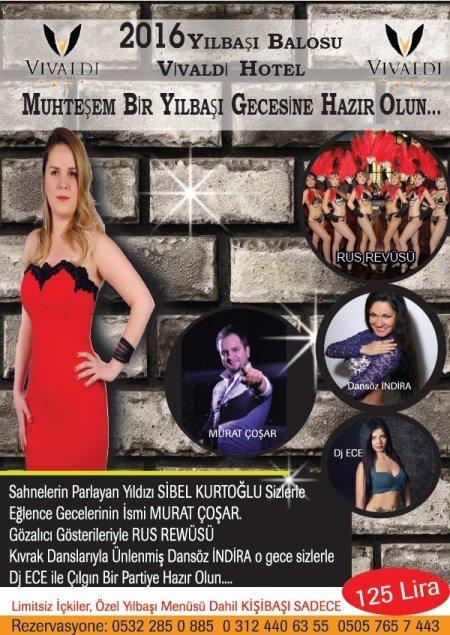 Vivaldi Otel Ankara Yılbaşı