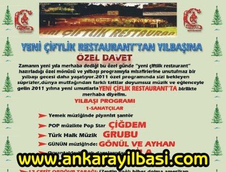 Yeni Çiftlik Restaurant 2011 Yılbaşı Programı